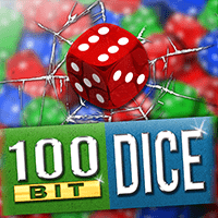 100 Bit Dice Game Logo